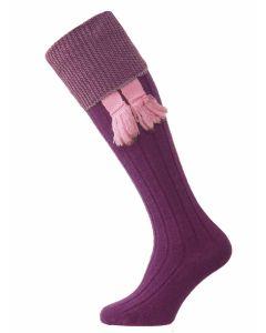 The Chiltern Wool Shooting Sock - Purple