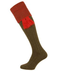 The Chiltern Olive Wool Shooting Sock