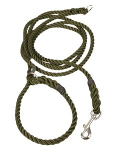 Hands Free Hunting Rope Slip Lead - 10mm - Olive