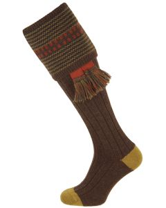 The Cumbrian Mocha Merino Wool Shooting Sock