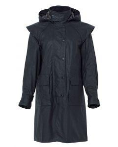 Driza-Bone Lightweight Wax Oilskin Coat, Black