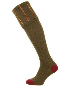 The Devonshire Olive Wool Shooting Sock