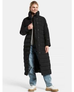 Didriksons Julie Women's Long Padded Winter Coat - Black - 503867