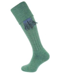 The Dinmore Cushion Foot Shooting Sock - Blue Lovat