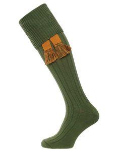 The Dodmarsh 'Moss' Cotton Shooting Sock