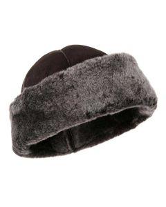 Women's Sheepskin Panelled Winter Hat