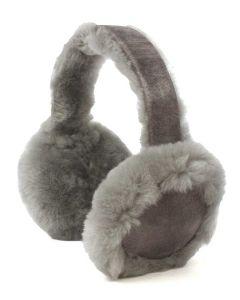 Children's Sheepskin Ear Muffs, Grey