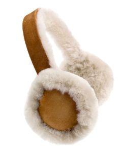 Women's Sheepskin Earmuffs, Tan