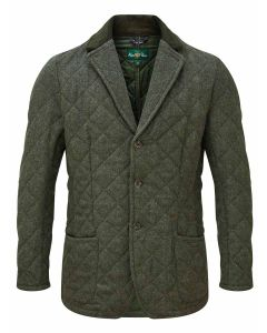 Men's Alan Paine Fawston Quilted Blazer, Olive