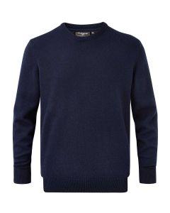 Navy | Men's Morar Lambswool Crew Neck Sweater