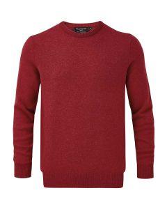Poppy Melange | Glenmuir Men's Morar Lambswool Crew Neck Sweater