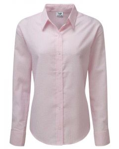 Women's Seersucker Pink Shirt from Grenouille