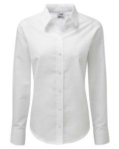 Women's Seersucker White Shirt from Grenouille