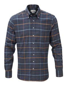 Alan Paine 'Heybridge' Men's Button-Down Shirt, Blue Check