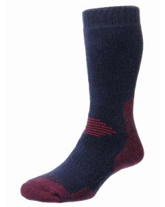Navy & Red | Pro-Trek Dual Skin Anti Blister Hiking Socks