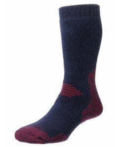 ProTrek Dual Skin Anti-Blister Socks, Navy/Red