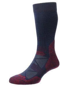 ProTrek Adventure Walking Socks, Navy/Red Marl