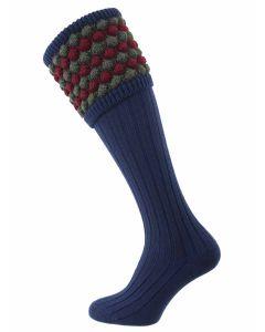 The Angus Navy, Merino Blend Shooting Sock