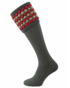 The Angus Shooting Sock - New Spruce with Moss
