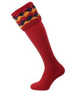 The Bowhill Shooting Socks, Brick Red
