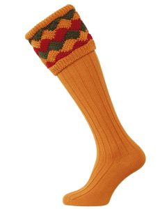 House of Cheviot - The Bowhill Shooting Sock - Ochre