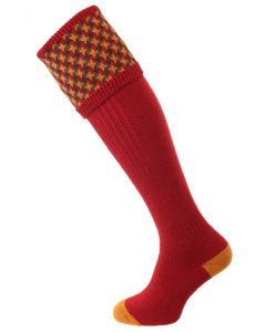 The Cromarty 'Brick Red' Cushion Foot Shooting Sock
