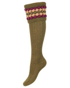 The Lady Angus Shooting Sock, Dark Olive