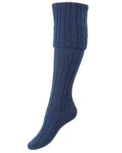 The Lady Harris Shooting Sock, Cornflower
