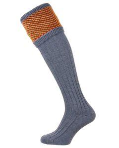 The Tayside Raindrop Blue Mix  Shooting Sock