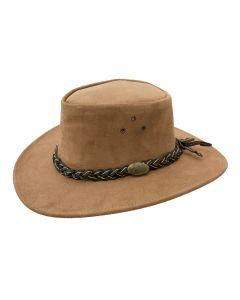 Jacaru Wallaroo Suede Bush Hat, Mushroom