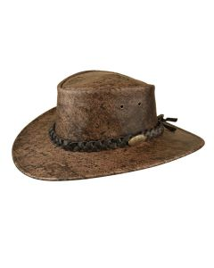 Jacaru Boulder Leather Stonewash Hat
