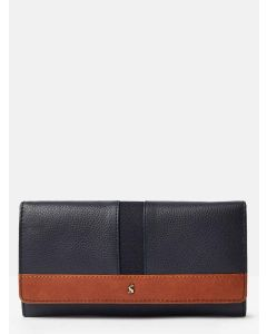 Joules Tally Carriage Leather, Envelope Purse, French Navy | 204428