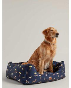 Joules Percher Square Pet Bed, Coastal Print