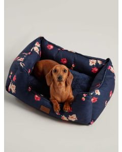 Joules Percher Dog Bed, Navy Floral
