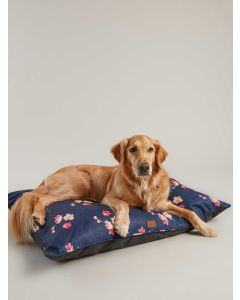 Joules Floral Restwell Pet Bed, Navy Floral