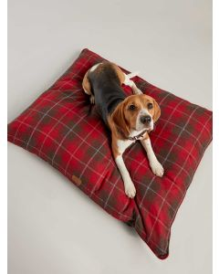 Joules Luxury Restwell Pet Bed, Red Tweed