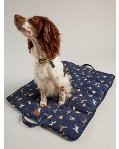 Joules Travel Dog Bed,  Navy Coastal