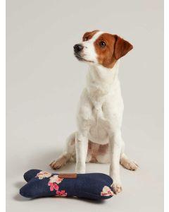 Joules Plush Bone Dog Toy, Navy Floral