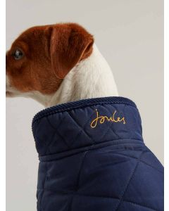 Joules Newdale Quilted Dog Coat, French Navy