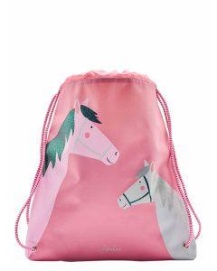 Joules Active Drawstring Bag, Pink Horses | 204897