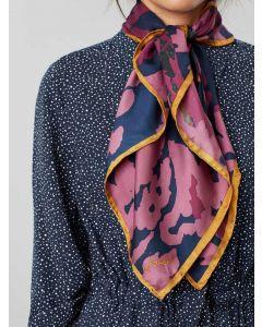 Joules Bloomfield Silk Scarf, Navy Pheasants | 204867