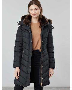Joules Women's Cherington Longline Padded Coat, Black| 203911