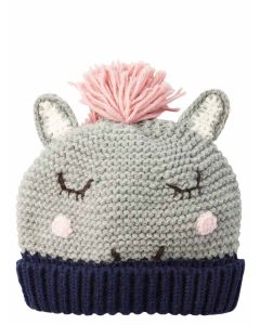 Joules Chummy Knitted Hat, Grey Horse