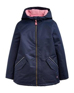 Joules Girls Raindrop Coat-19: French Navy-Age 9-10