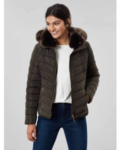 Joules Gosway Chevron Padded Jacket, Heritage Green 204259