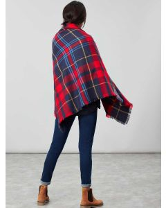 Joules Heyford Oversized Scarf, Navy Check 204888