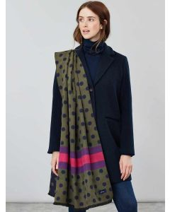 Joules Jacquelyn Jacquard Scarf,  Green Spot Scarf 204865