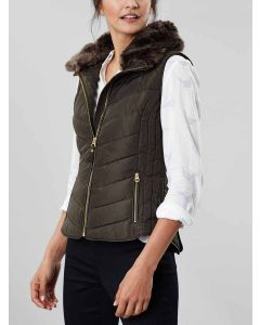 Joules Maybury Gilet with Hood, Heritage Green 204256