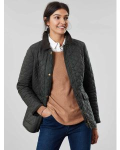 Joules Women's Newdale Quilted Coat, Everglade