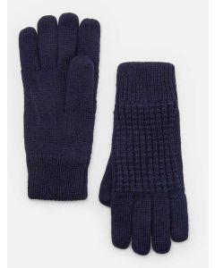 Joules Men's Bamburgh Knitted Gloves, Midnight